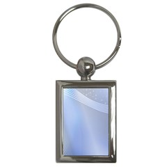 Blue Star Background Key Chains (rectangle)  by Jojostore