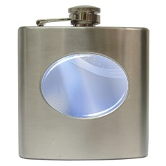 Blue Star Background Hip Flask (6 Oz) by Jojostore