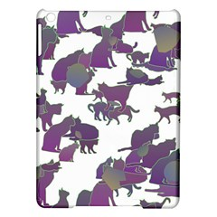 Many Cats Silhouettes Texture Ipad Air Hardshell Cases by Jojostore