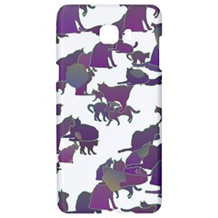 Many Cats Silhouettes Texture Samsung C9 Pro Hardshell Case