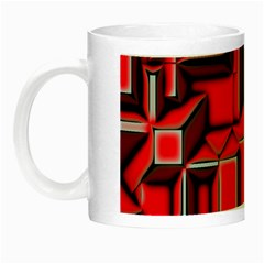 Background With Red Texture Blocks Night Luminous Mugs by Jojostore