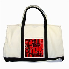 Background With Red Texture Blocks Two Tone Tote Bag