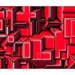 Background With Red Texture Blocks Deluxe Canvas 14  x 11  (Stretched) 14  x 11  x 1.5  Stretched Canvas