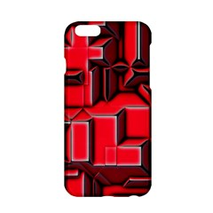 Background With Red Texture Blocks Apple Iphone 6/6s Hardshell Case