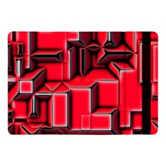 Background With Red Texture Blocks Apple Ipad 9 7 by Jojostore