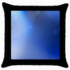 Blue Star Background Throw Pillow Case (black) by Jojostore