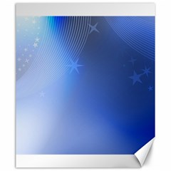 Blue Star Background Canvas 20  X 24