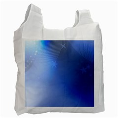 Blue Star Background Recycle Bag (one Side) by Jojostore
