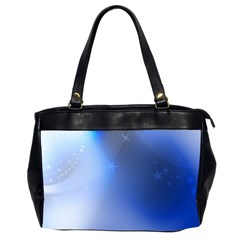 Blue Star Background Oversize Office Handbag (2 Sides) by Jojostore