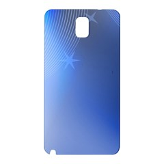 Blue Star Background Samsung Galaxy Note 3 N9005 Hardshell Back Case by Jojostore