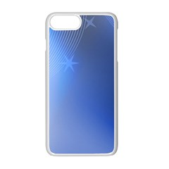 Blue Star Background Apple Iphone 7 Plus Seamless Case (white)