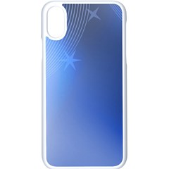 Blue Star Background Apple Iphone X Seamless Case (white) by Jojostore