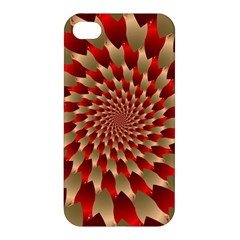 Fractal Red Petal Spiral Apple Iphone 4/4s Premium Hardshell Case by Jojostore