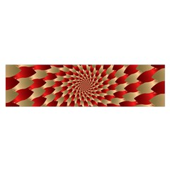 Fractal Red Petal Spiral Satin Scarf (oblong) by Jojostore