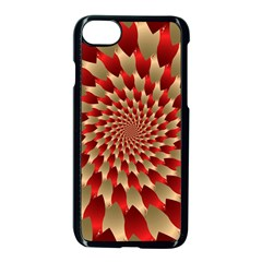 Fractal Red Petal Spiral Apple Iphone 7 Seamless Case (black)