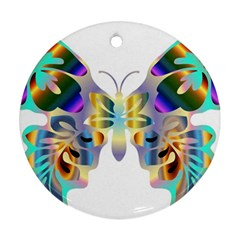 Abstract Animal Art Butterfly Copy Ornament (round)