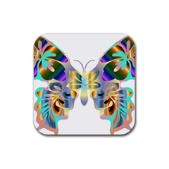 Abstract Animal Art Butterfly Copy Rubber Square Coaster (4 Pack)  by Jojostore