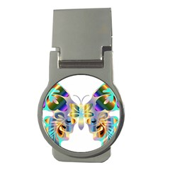 Abstract Animal Art Butterfly Copy Money Clips (round)  by Jojostore