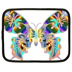 Abstract Animal Art Butterfly Copy Netbook Case (large) by Jojostore