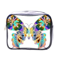 Abstract Animal Art Butterfly Copy Mini Toiletries Bag (one Side)