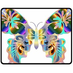 Abstract Animal Art Butterfly Copy Fleece Blanket (medium)  by Jojostore
