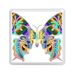 Abstract Animal Art Butterfly Copy Memory Card Reader (square)