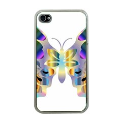 Abstract Animal Art Butterfly Copy Apple Iphone 4 Case (clear)