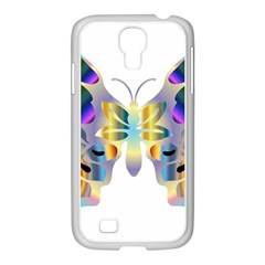 Abstract Animal Art Butterfly Copy Samsung Galaxy S4 I9500/ I9505 Case (white)