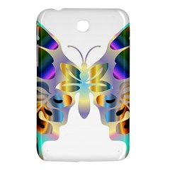 Abstract Animal Art Butterfly Copy Samsung Galaxy Tab 3 (7 ) P3200 Hardshell Case