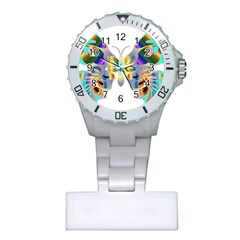 Abstract Animal Art Butterfly Copy Plastic Nurses Watch