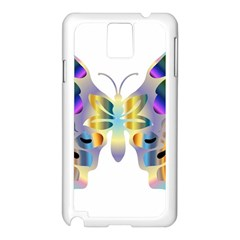 Abstract Animal Art Butterfly Copy Samsung Galaxy Note 3 N9005 Case (white)