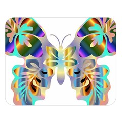 Abstract Animal Art Butterfly Copy Double Sided Flano Blanket (large)