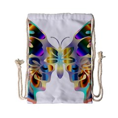Abstract Animal Art Butterfly Copy Drawstring Bag (small) by Jojostore