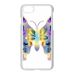 Abstract Animal Art Butterfly Copy Apple Iphone 8 Seamless Case (white) by Jojostore