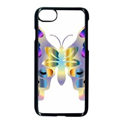 Abstract Animal Art Butterfly Copy Apple Iphone 8 Seamless Case (black) by Jojostore
