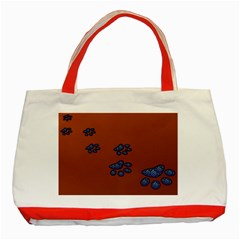 Footprints Paw Animal Track Foot Classic Tote Bag (red) by Jojostore