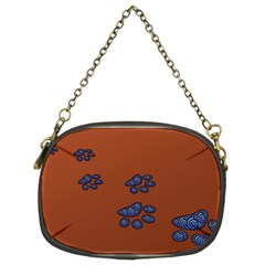 Footprints Paw Animal Track Foot Chain Purse (two Sides)