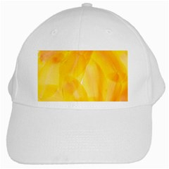 Yellow Pattern Painting White Cap