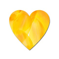 Yellow Pattern Painting Heart Magnet