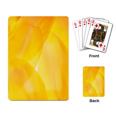 Yellow Pattern Painting Playing Cards Single Design by Jojostore