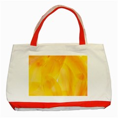 Yellow Pattern Painting Classic Tote Bag (red) by Jojostore