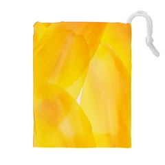 Yellow Pattern Painting Drawstring Pouch (xl) by Jojostore