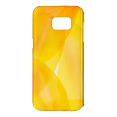 Yellow Pattern Painting Samsung Galaxy S7 Edge Hardshell Case