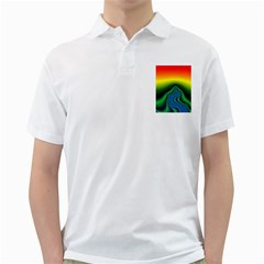 Fractal Wallpaper Water And Fire Golf Shirt by Jojostore