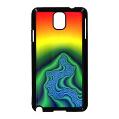 Fractal Wallpaper Water And Fire Samsung Galaxy Note 3 Neo Hardshell Case (black) by Jojostore