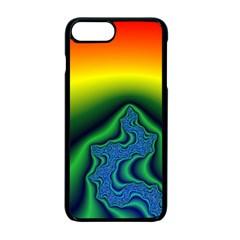 Fractal Wallpaper Water And Fire Apple Iphone 7 Plus Seamless Case (black)