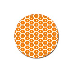 Golden Be Hive Pattern Magnet 3  (round) by Jojostore