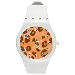 Seamless Tile Background Abstract Round Plastic Sport Watch (m)