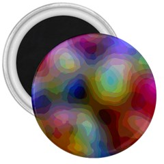 A Mix Of Colors In An Abstract Blend For A Background 3  Magnets by Jojostore
