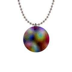 A Mix Of Colors In An Abstract Blend For A Background 1  Button Necklace